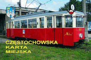 Częstochowska Karta Miejska - przykład karty tramwaj