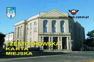 Częstochowska Karta Miejska - przykład karty teatr